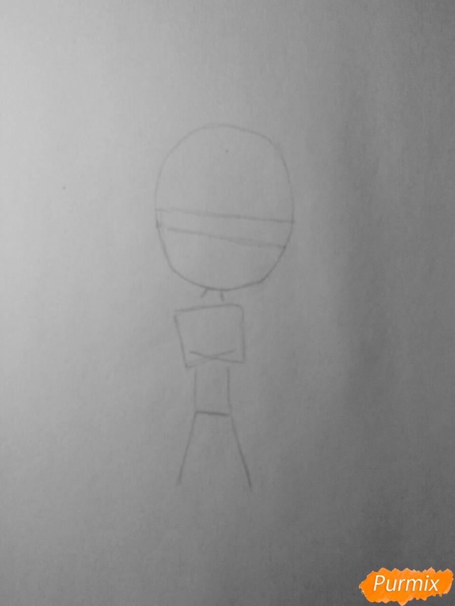 Рисуем Аято Сакамаки в стиле чиби - шаг 1