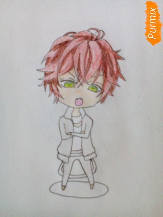 Рисуем Аято Сакамаки в стиле чиби - шаг 5