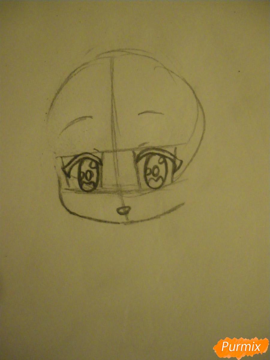 Рисуем чиби ангелочка с Пикачу на голове - шаг 2