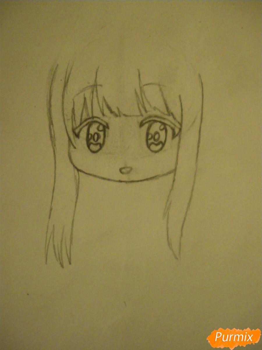 Рисуем чиби ангелочка с Пикачу на голове - шаг 3