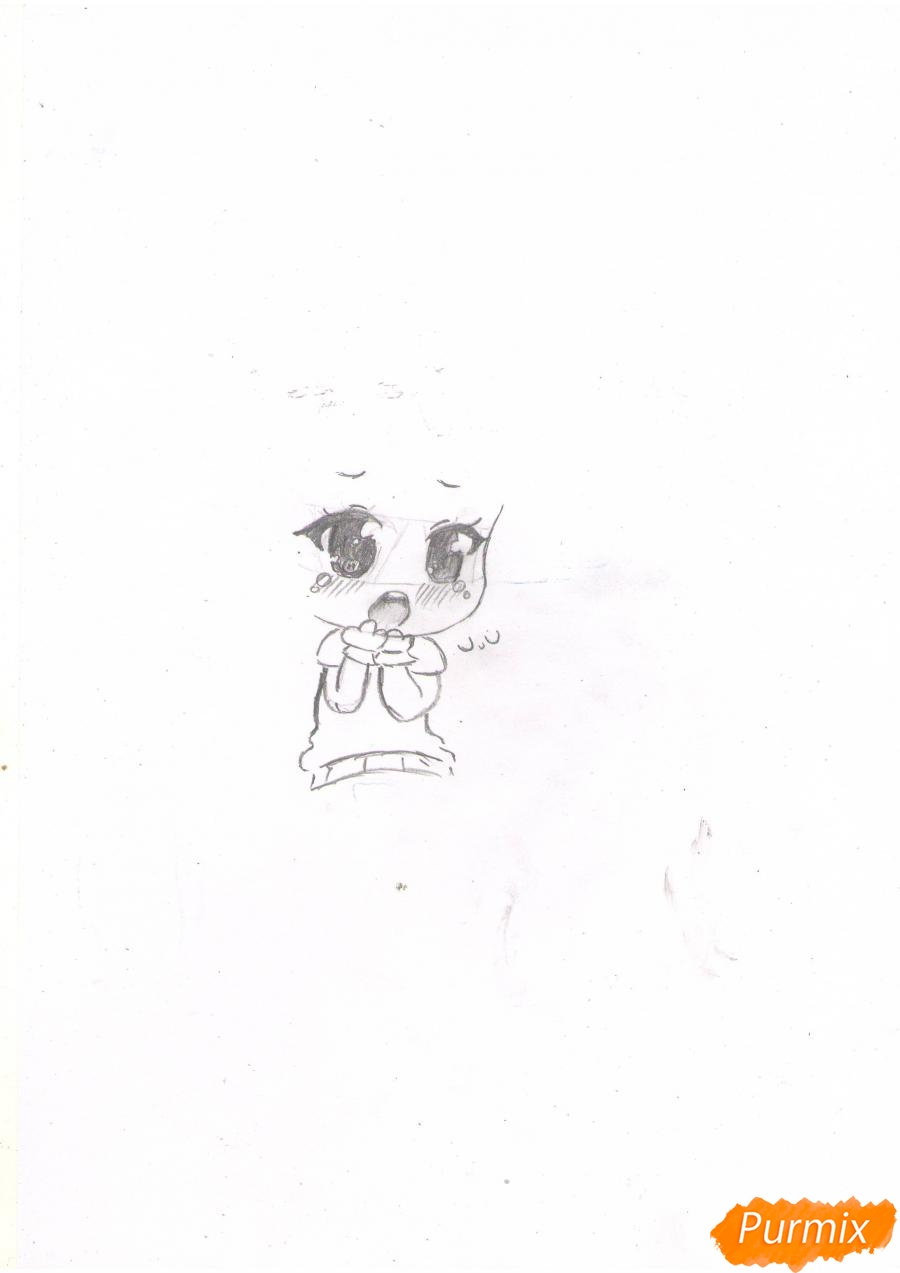 Рисуем чиби Азусу - фото 2