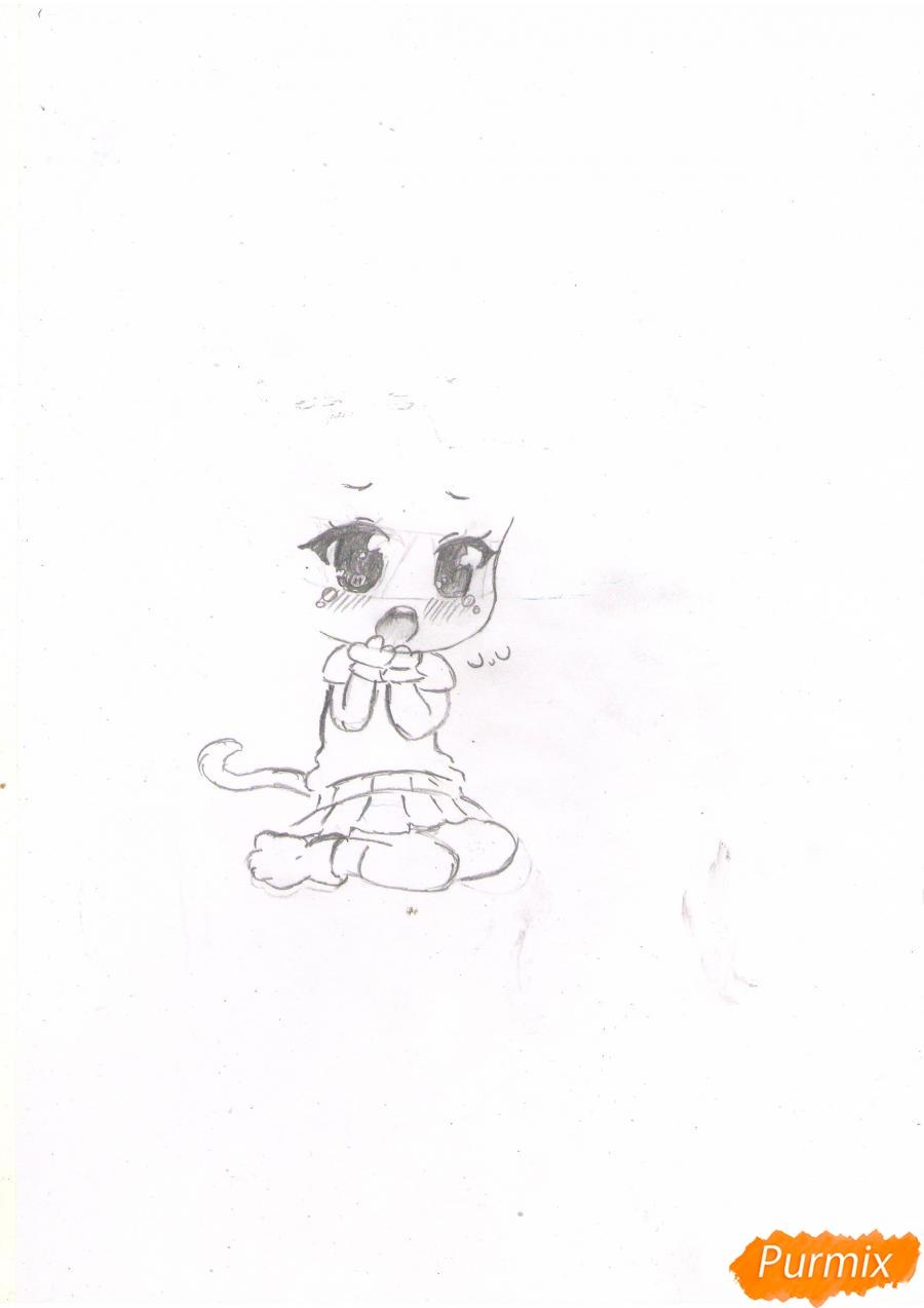 Рисуем чиби Азусу - фото 3