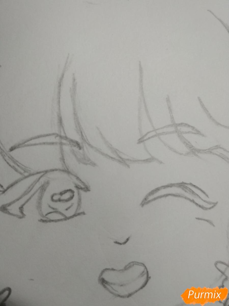 Рисуем чиби Чон Хосока BTS карандашами - шаг 5