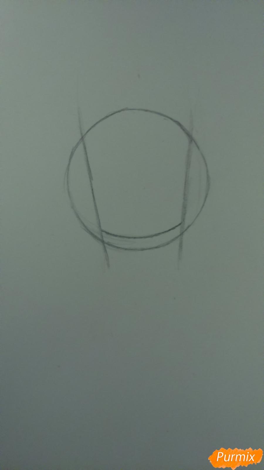 Рисуем милую чиби девочку с длинными волосами - шаг 1