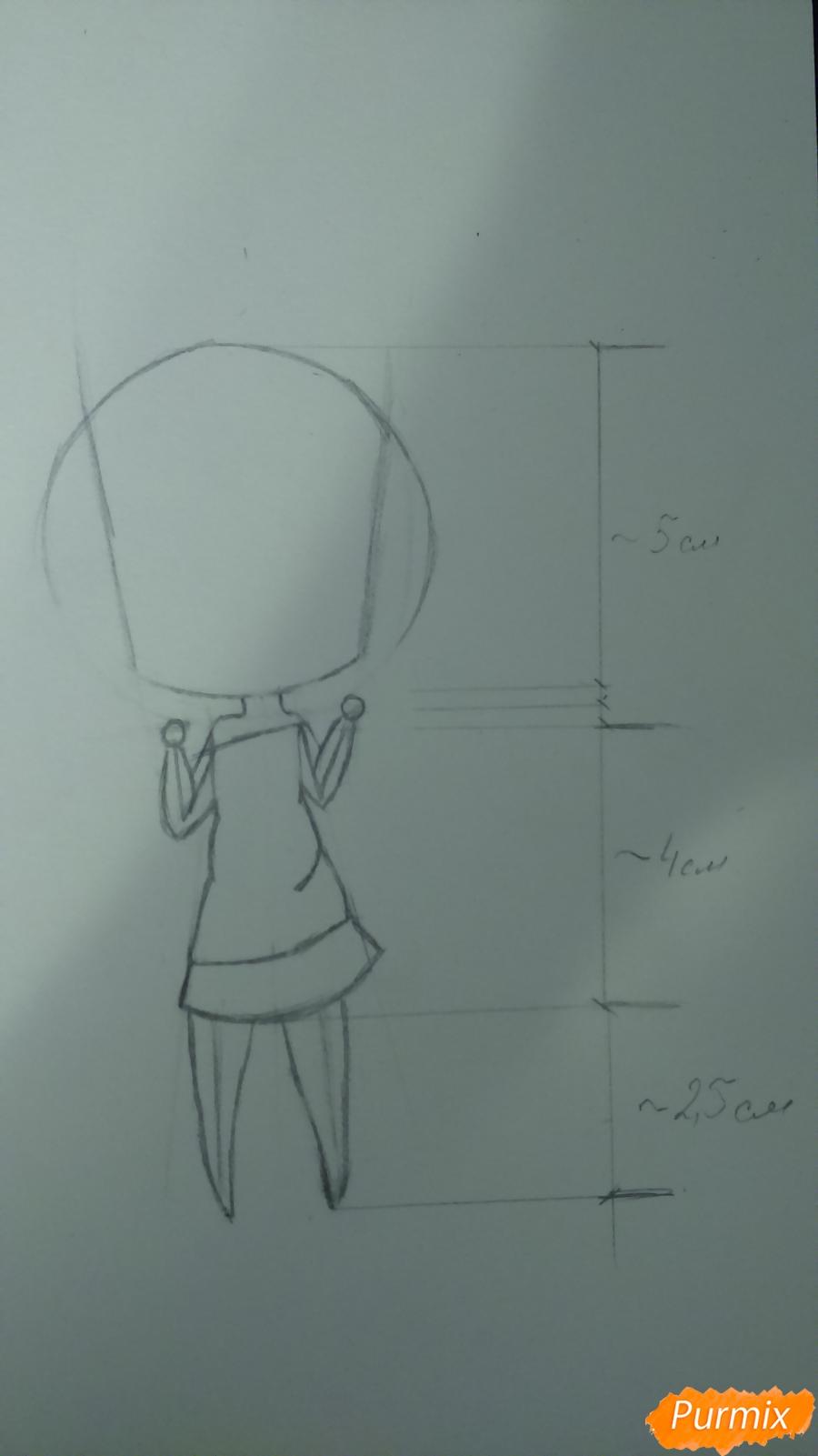 Рисуем милую чиби девочку с длинными волосами - шаг 4