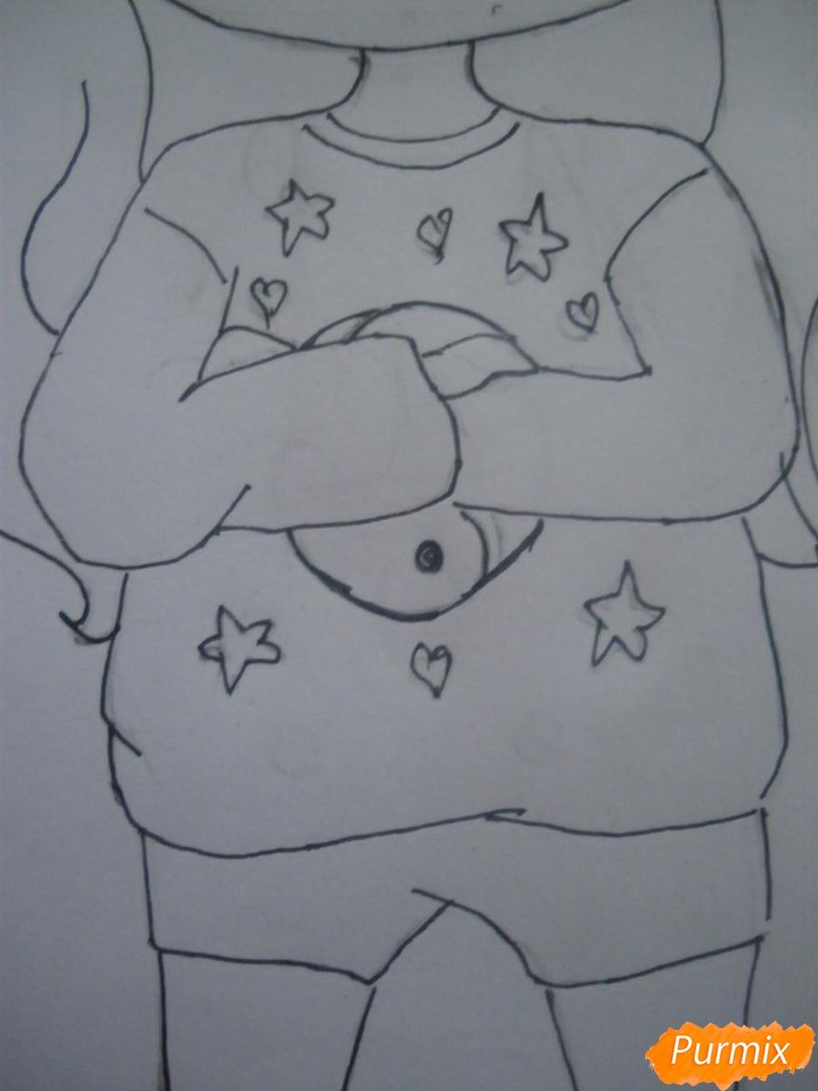 Рисуем чиби девочку в кепке  для начинающих - шаг 9