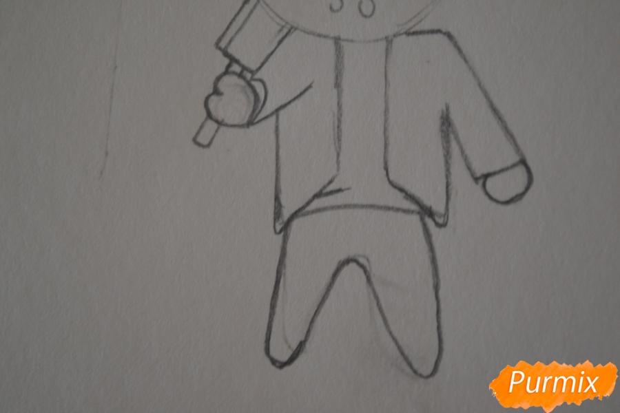 Рисуем чиби Джейсона Вурхиза из Пятницы 13 в стиле - шаг 3