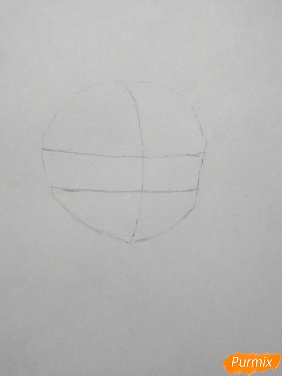 Рисуем чиби Джузо из аниме Токийский гуль - шаг 1