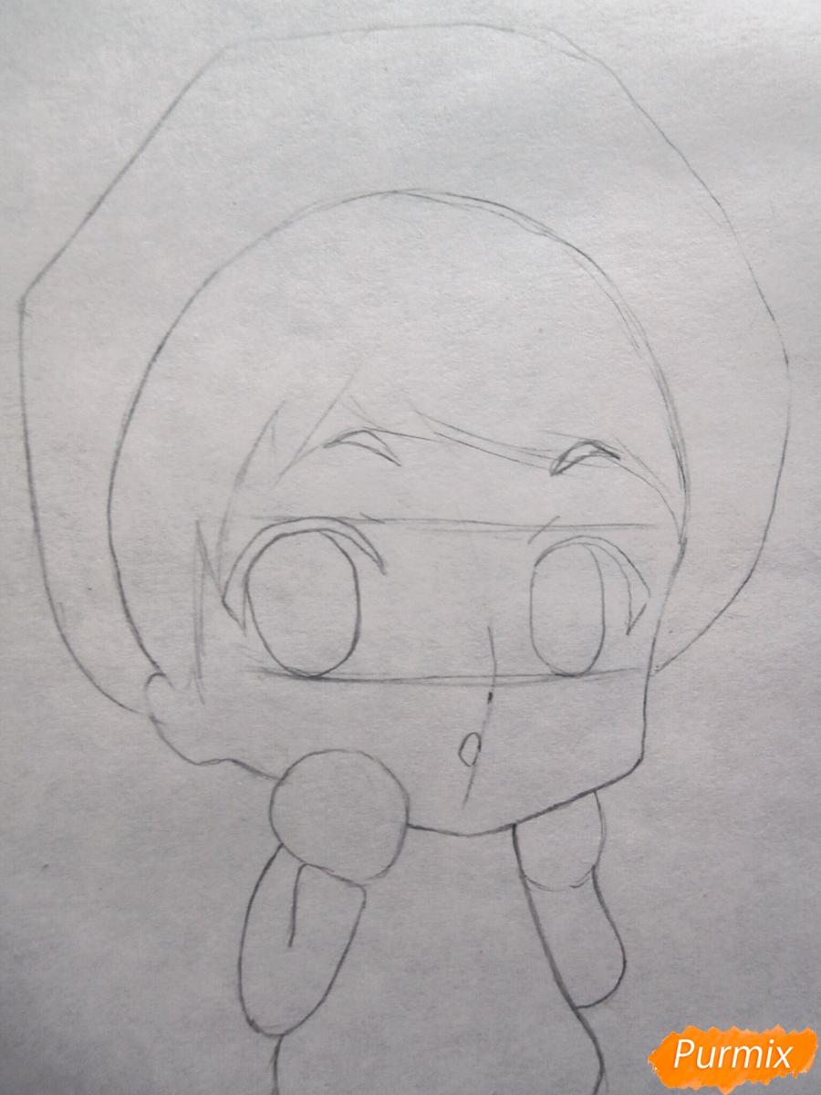 Рисуем чиби Хиде из аниме Токийский гуль - шаг 2
