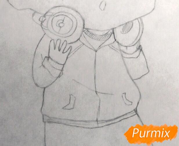 Рисуем чиби Хиде из аниме Токийский гуль - шаг 4