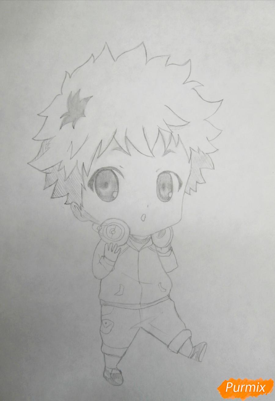 Рисуем чиби Хиде из аниме Токийский гуль - шаг 6