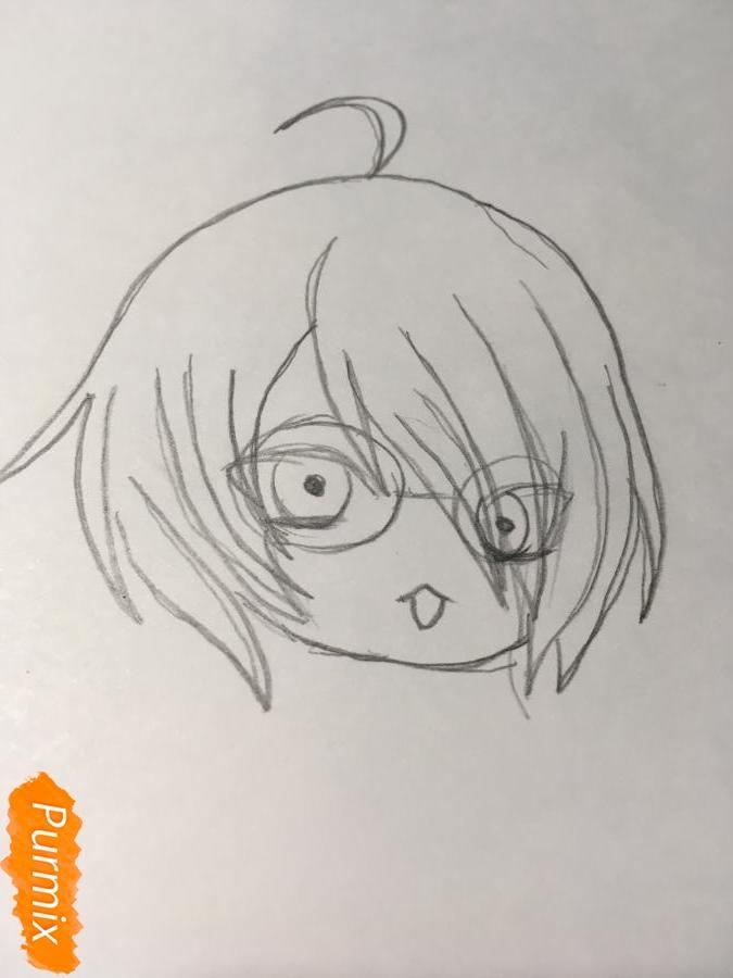 Рисуем чиби Изуми - фото 4