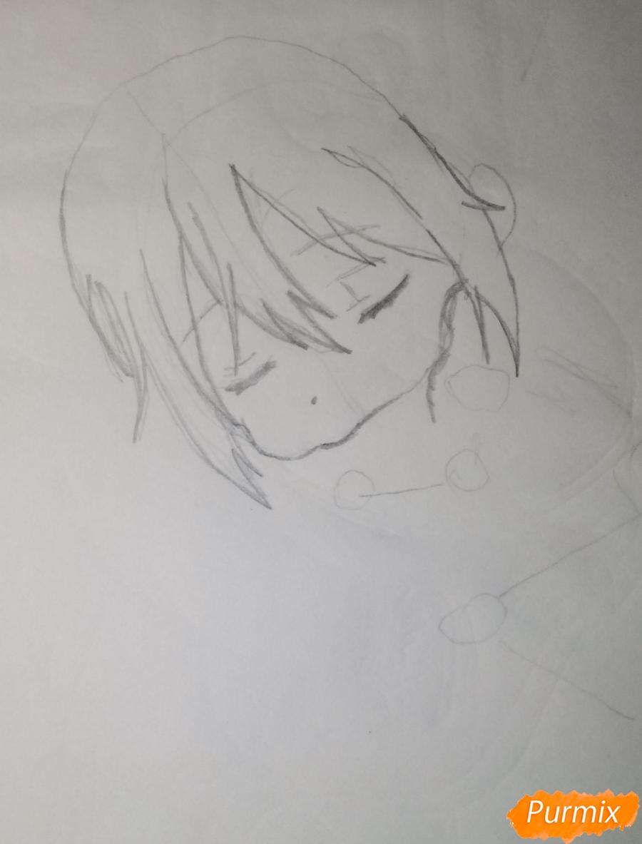 Рисуем чиби Кобаяси из аниме Дракон-горничная Кобаяcи-сан - шаг 2