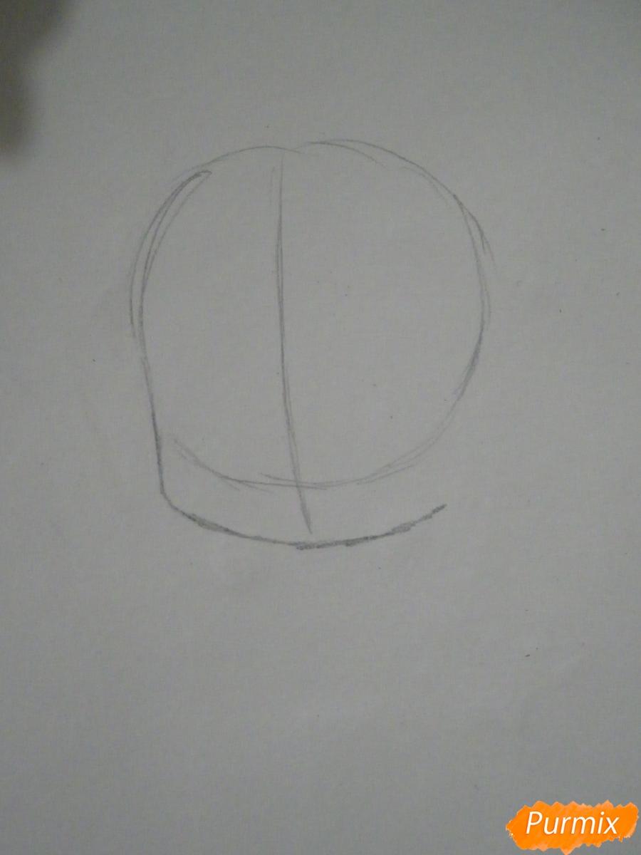 Рисуем чиби Кофуку из аниме бездомный бог карандашами - шаг 1