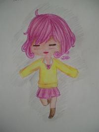 Рисунок чиби Кофуку из аниме бездомный бог