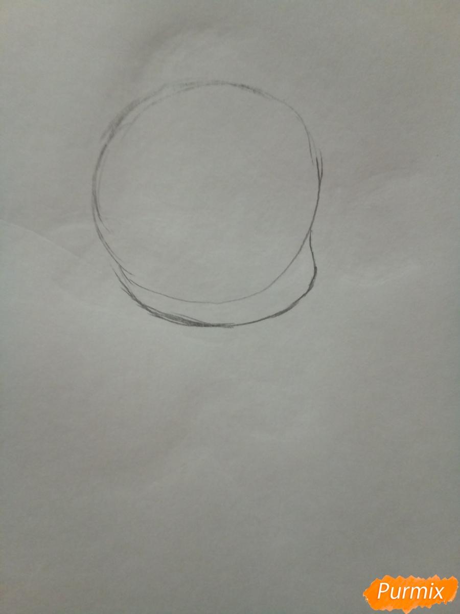 Рисуем чиби кота Нуара карандашами - шаг 1
