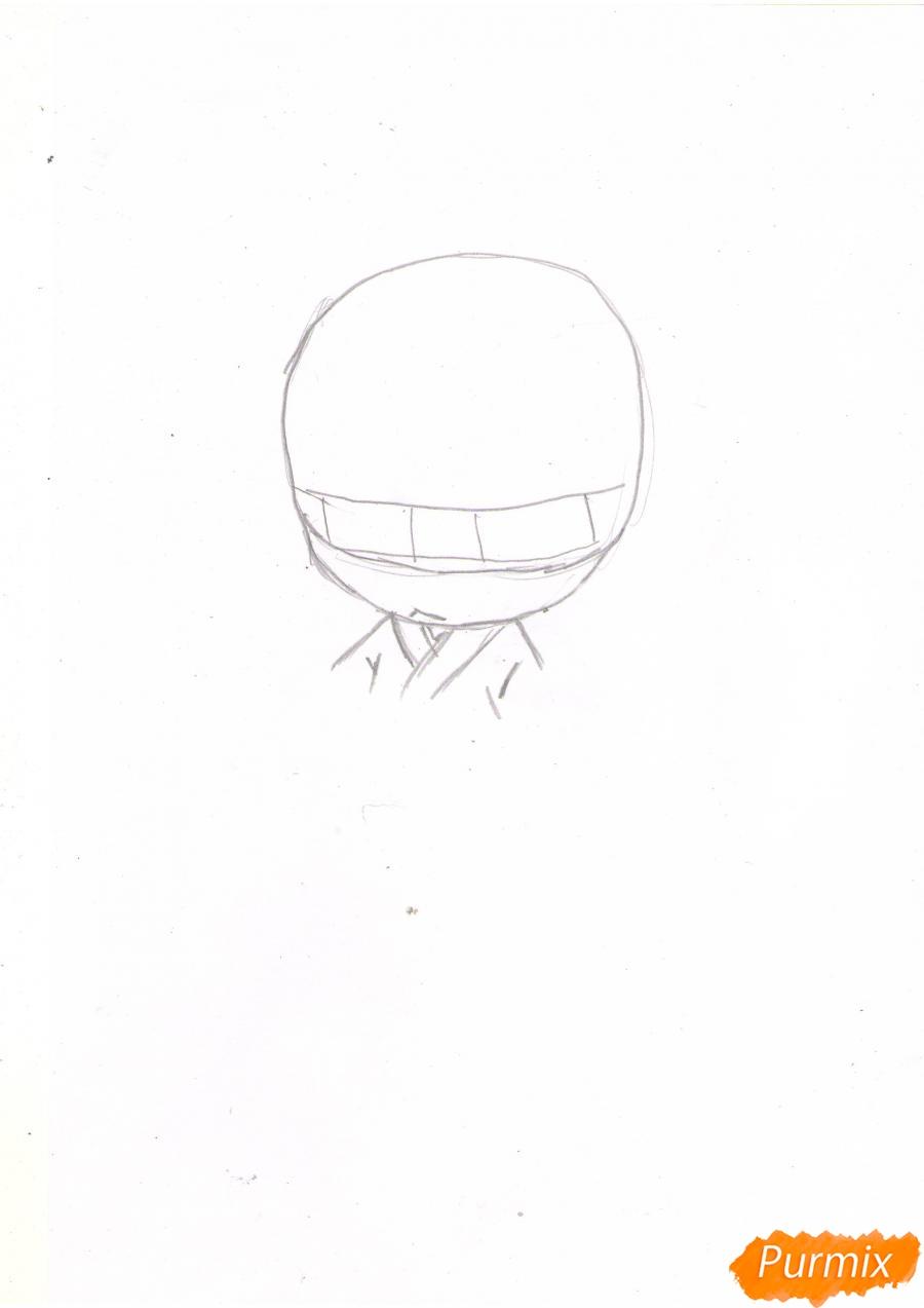 Рисуем чиби Томое карандашами - шаг 1