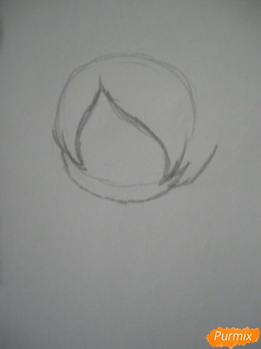 Рисуем девочку Билла Сайфера в стиле чиби карандашами - шаг 1