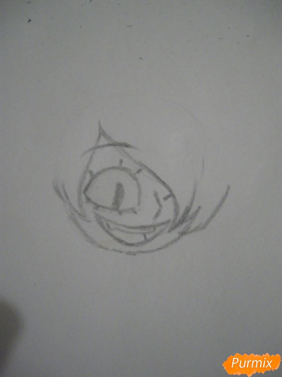 Рисуем девочку Билла Сайфера в стиле чиби карандашами - шаг 2