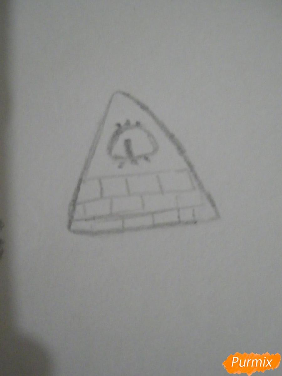 Рисуем девочку Билла Сайфера в стиле чиби карандашами - шаг 7