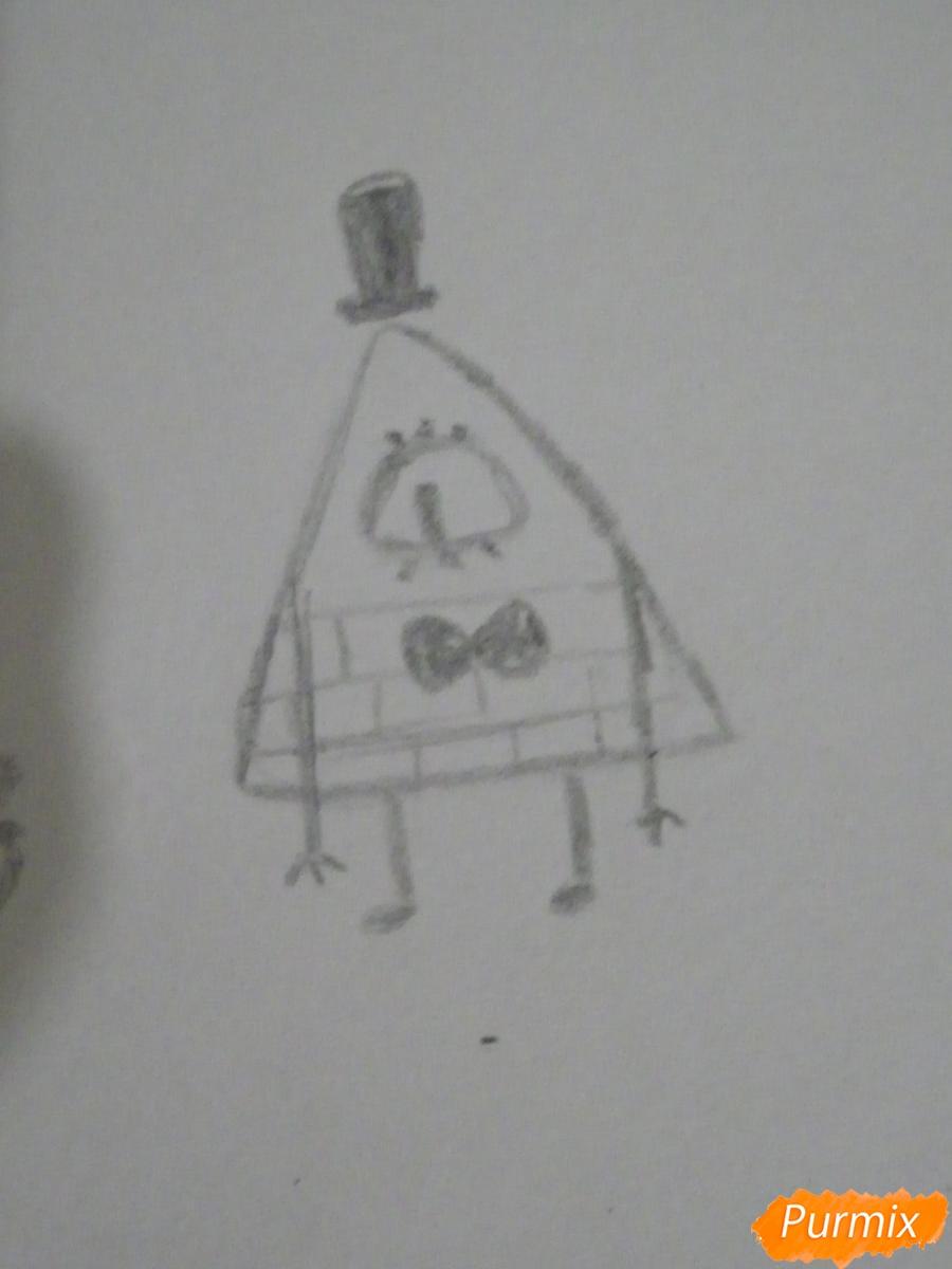 Рисуем девочку Билла Сайфера в стиле чиби карандашами - шаг 8