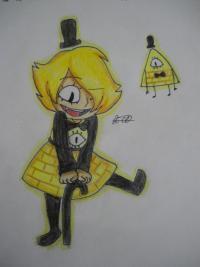 Рисунок девочку Билла Сайфера в стиле чиби