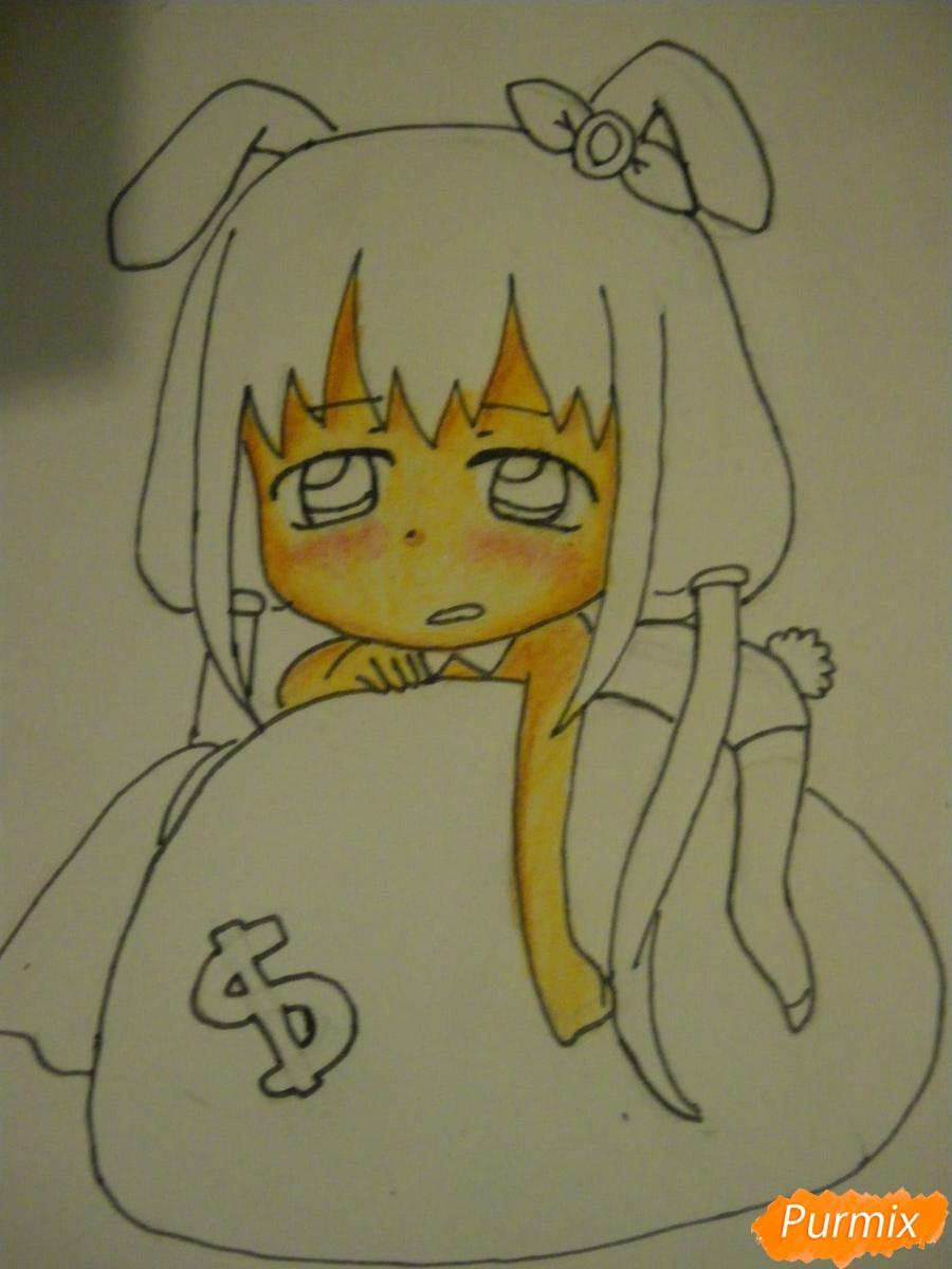 Рисуем девочку кролика в стиле чиби - фото 10