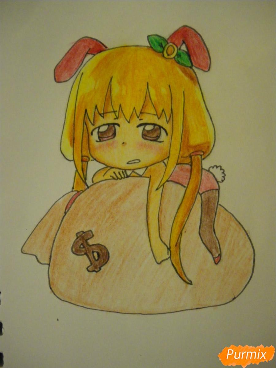 Рисуем девочку кролика в стиле чиби - фото 12