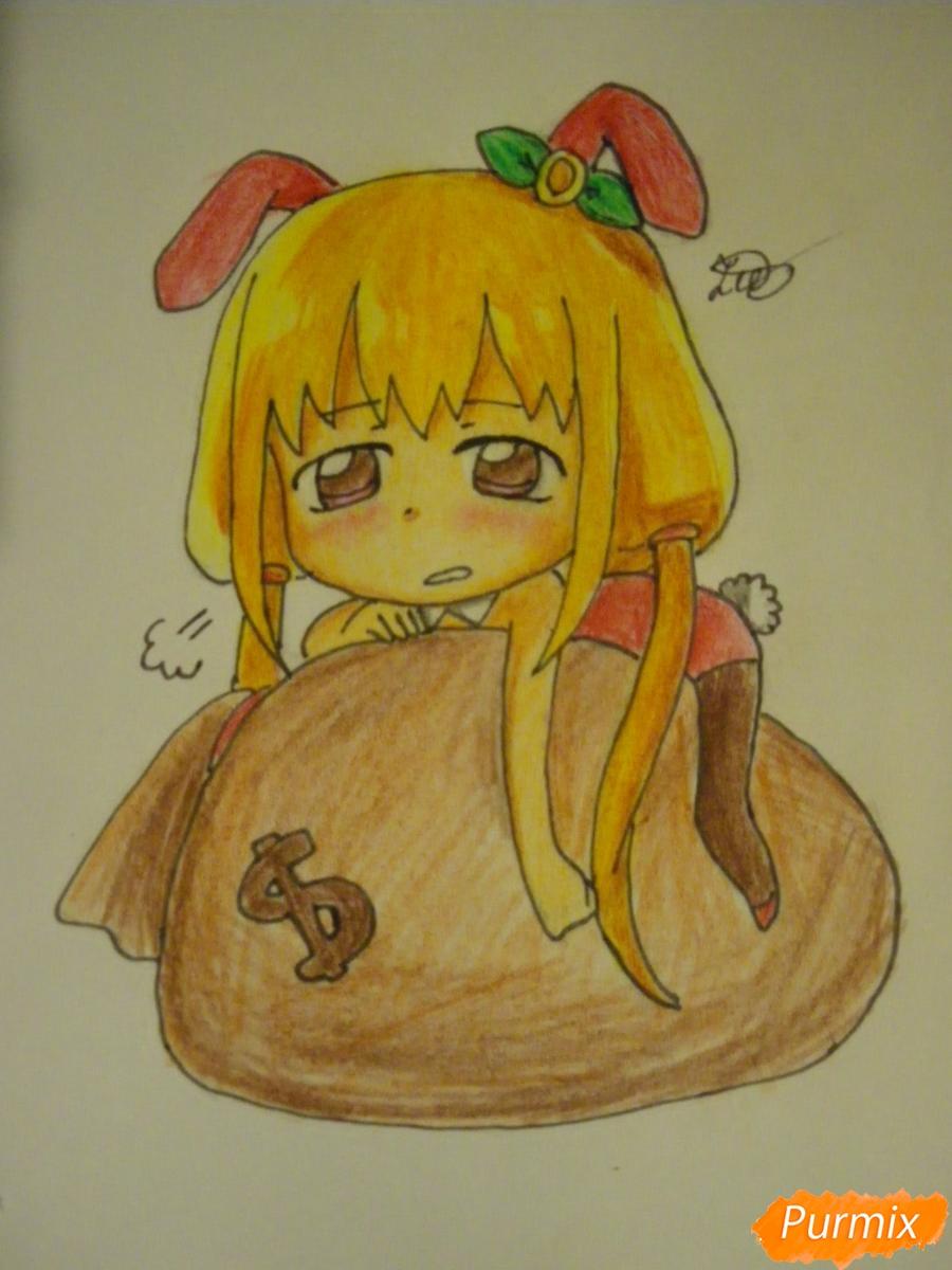 Рисуем девочку кролика в стиле чиби - фото 13