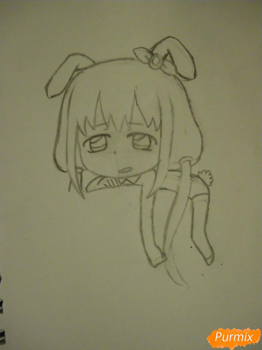 Рисуем девочку кролика в стиле чиби - фото 6