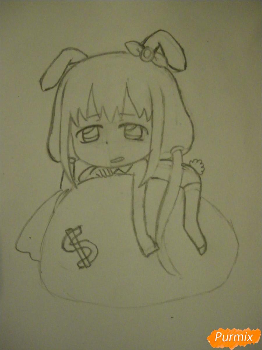 Рисуем девочку кролика в стиле чиби - фото 7