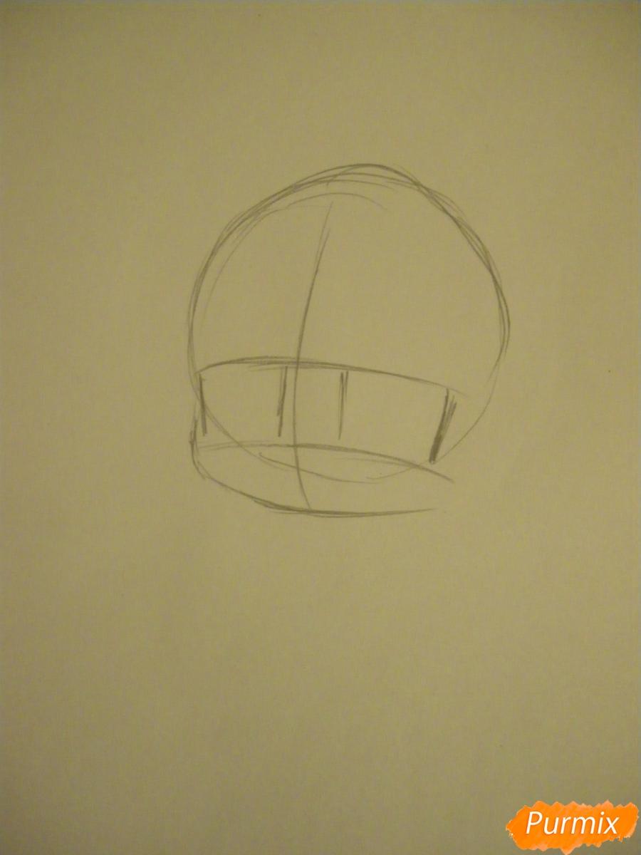 Рисуем девочку оленя в стиле чиби карандашами - шаг 1