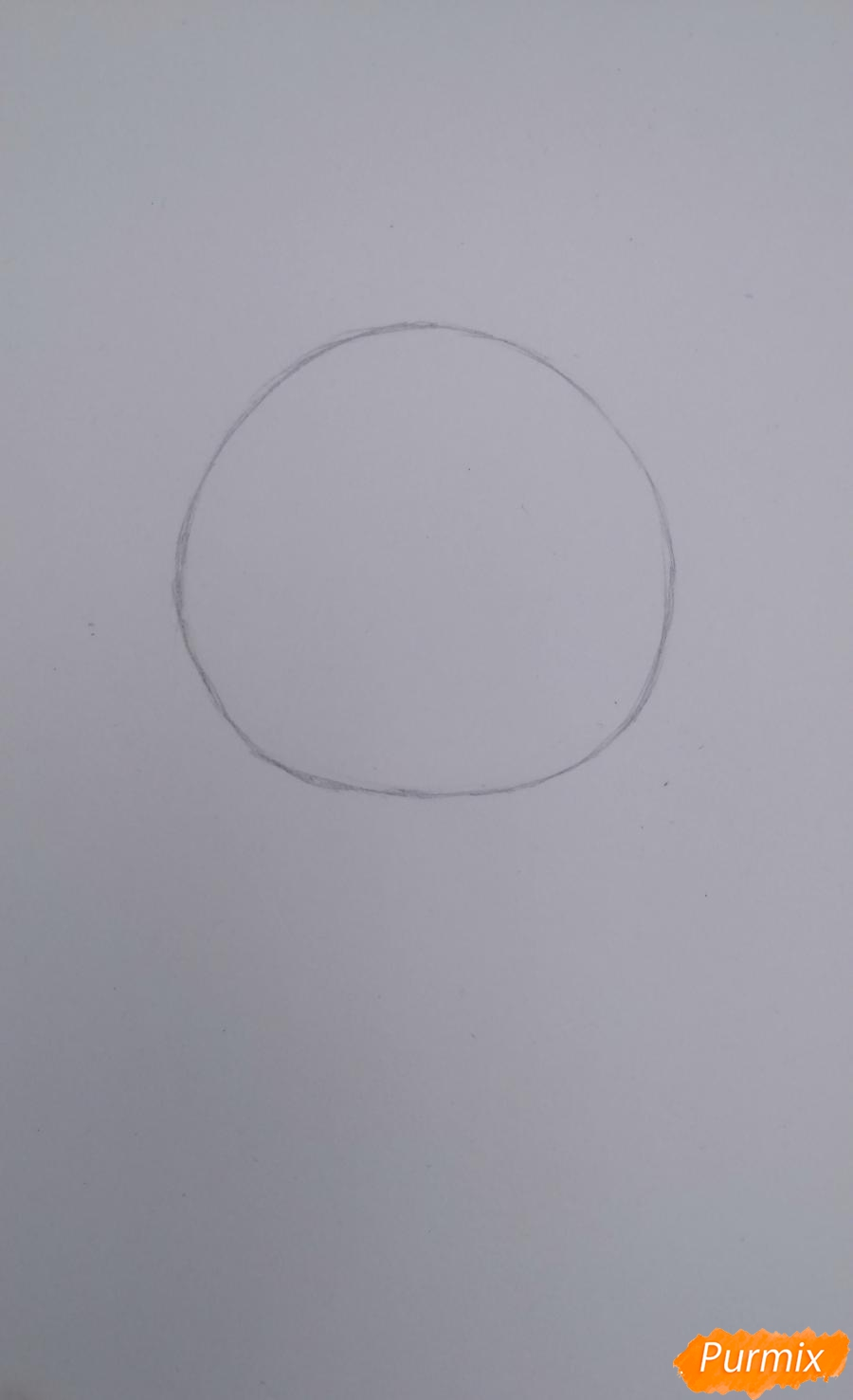 Учимся рисовать грустную девочку-чиби - шаг 1