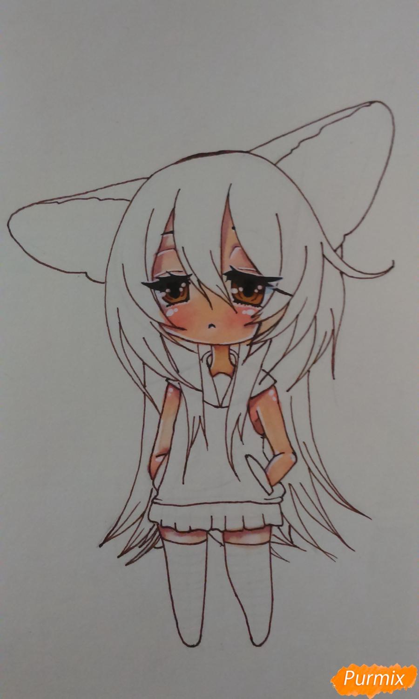 Учимся рисовать грустную девочку-чиби - шаг 12