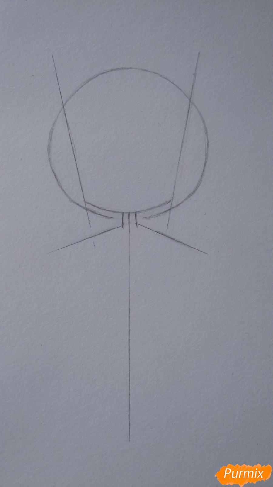 Учимся рисовать грустную девочку-чиби - шаг 3