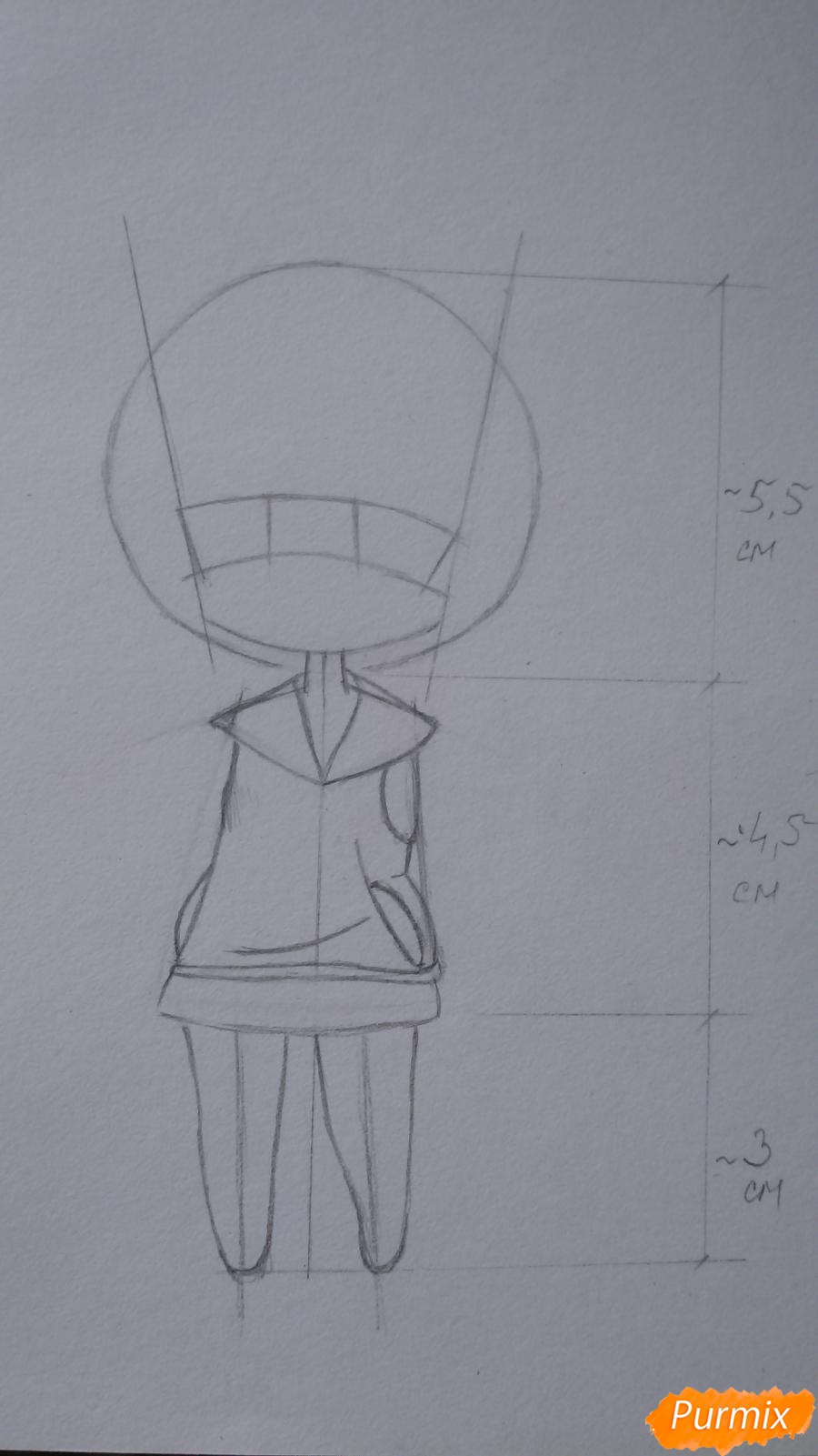 Учимся рисовать грустную девочку-чиби - шаг 6