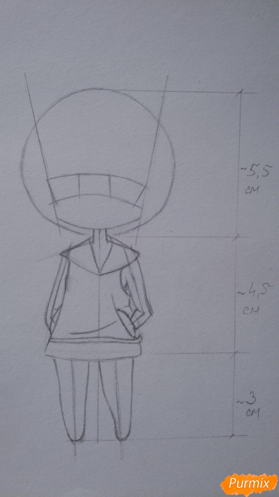 Учимся рисовать грустную девочку-чиби - шаг 7
