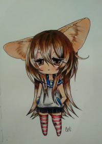 Учимся рисовать грустную девочку-чиби