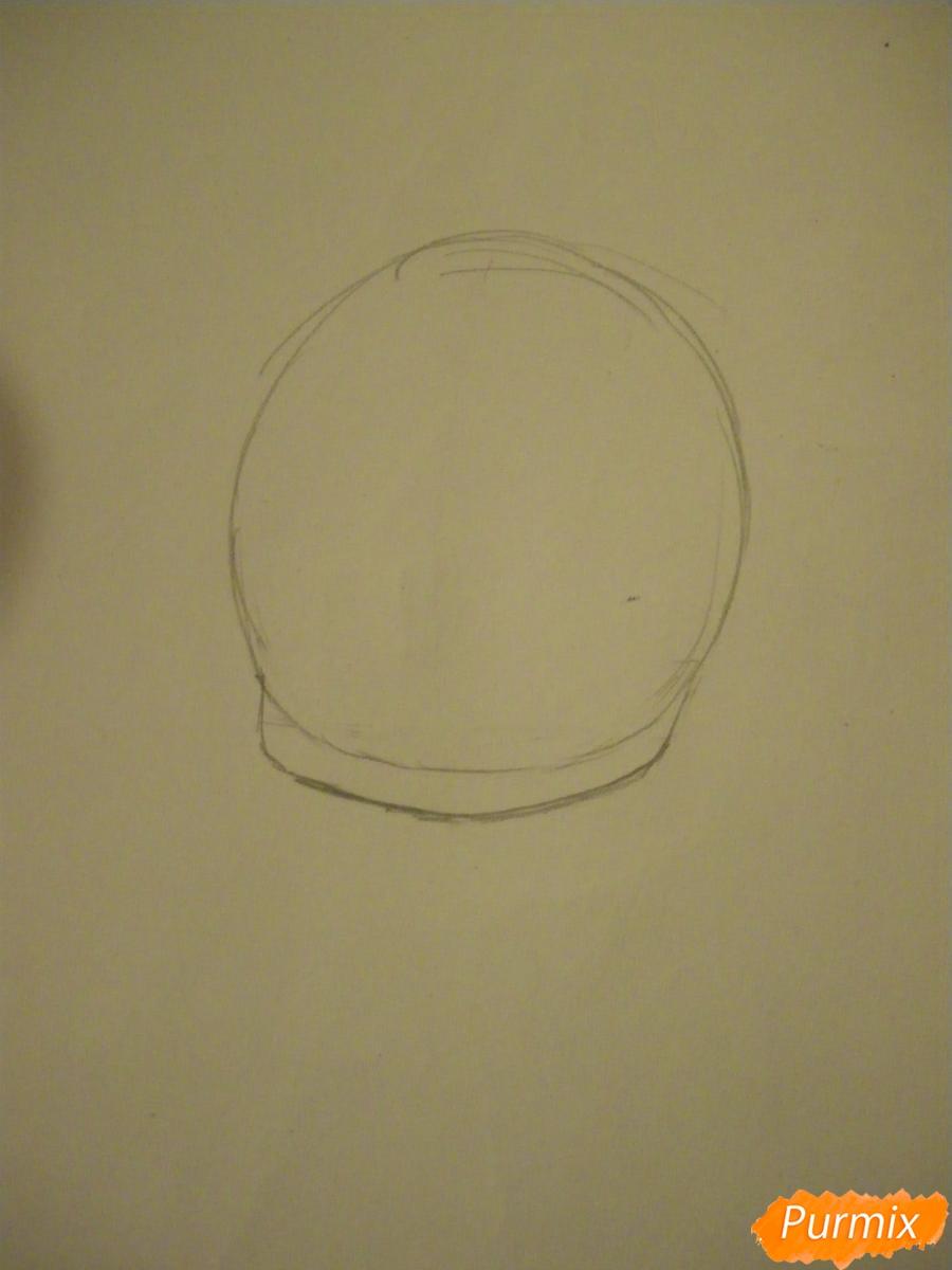 Рисуем хуманизацию фисташкового мороженого в виде чиби - шаг 1