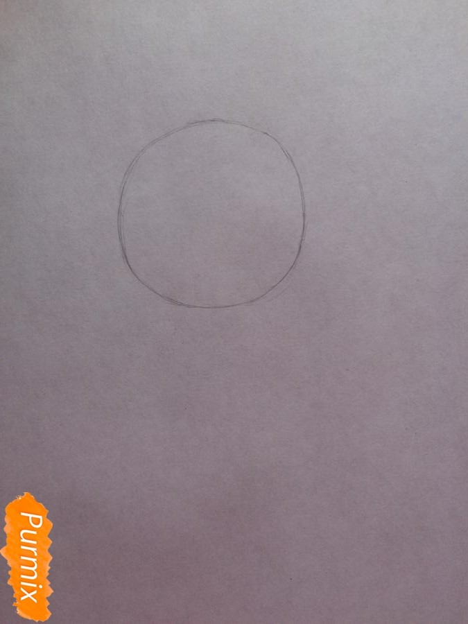 Рисуем и раскрасить чиби девочку цветными карандашами - фото 1