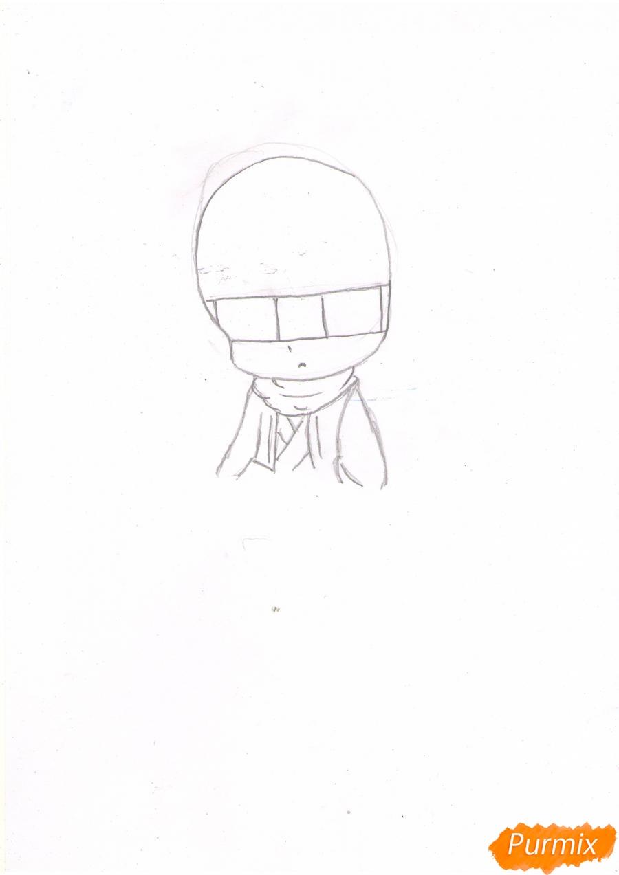 Рисуем и раскрасить Томоэ в чиби стиле - шаг 1