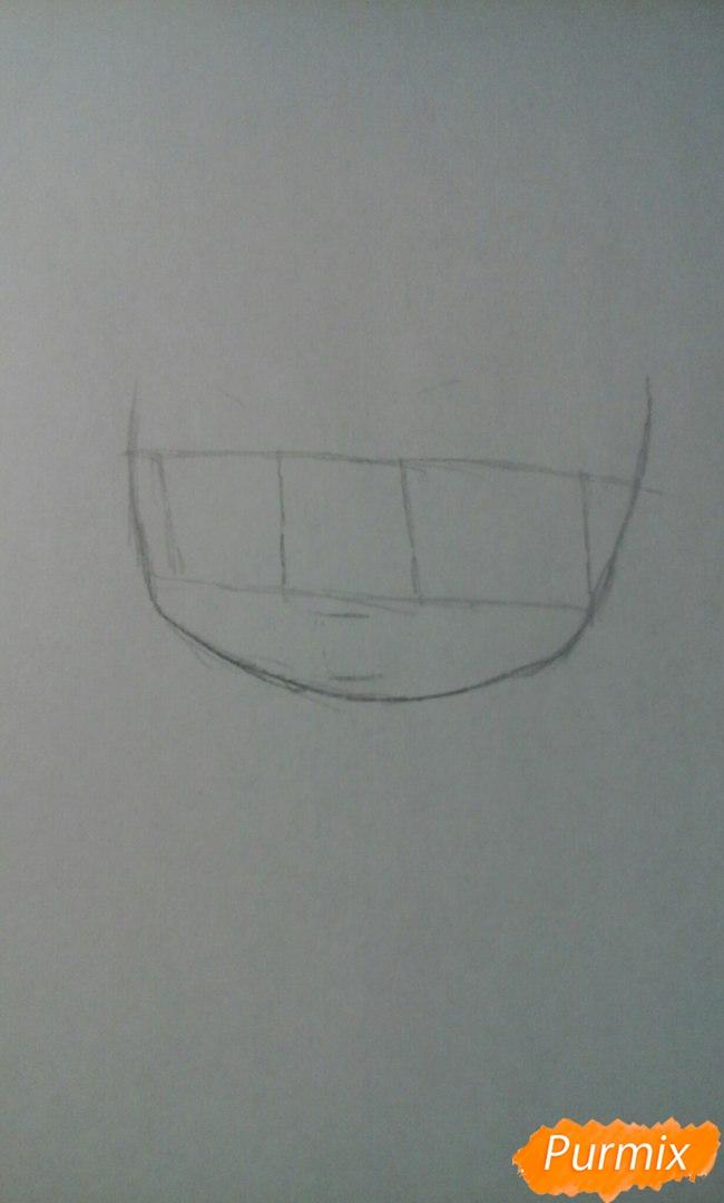Рисуем и разукрасить Кисе Рёту в стиле чиби - шаг 2