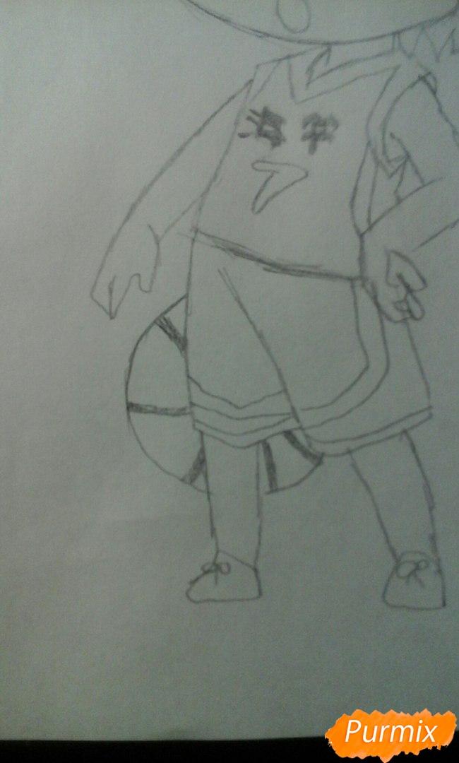 Рисуем и разукрасить Кисе Рёту в стиле чиби - шаг 8