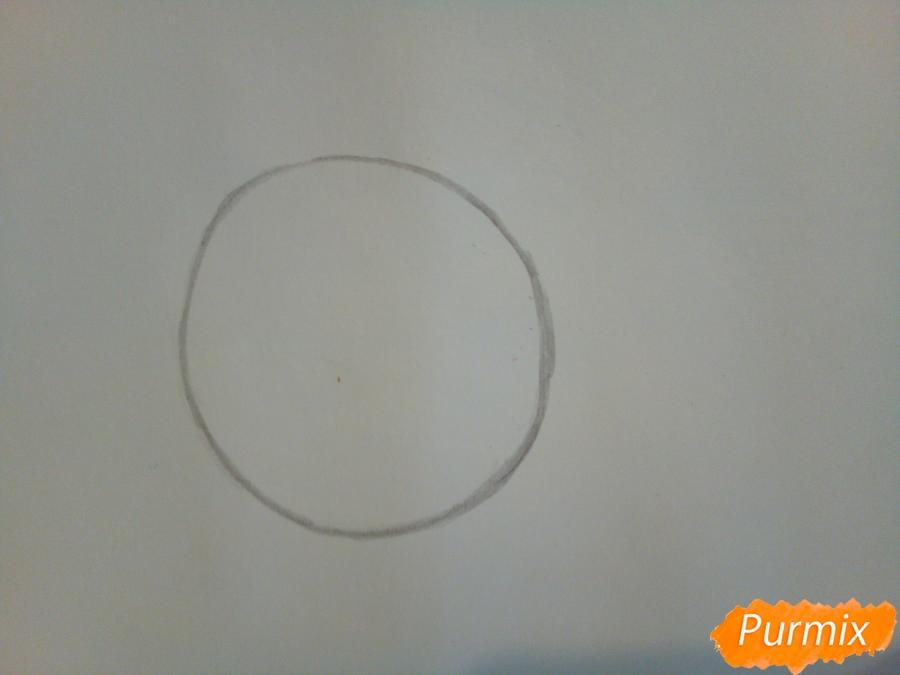 Рисуем козерога в стиле чиби - шаг 1