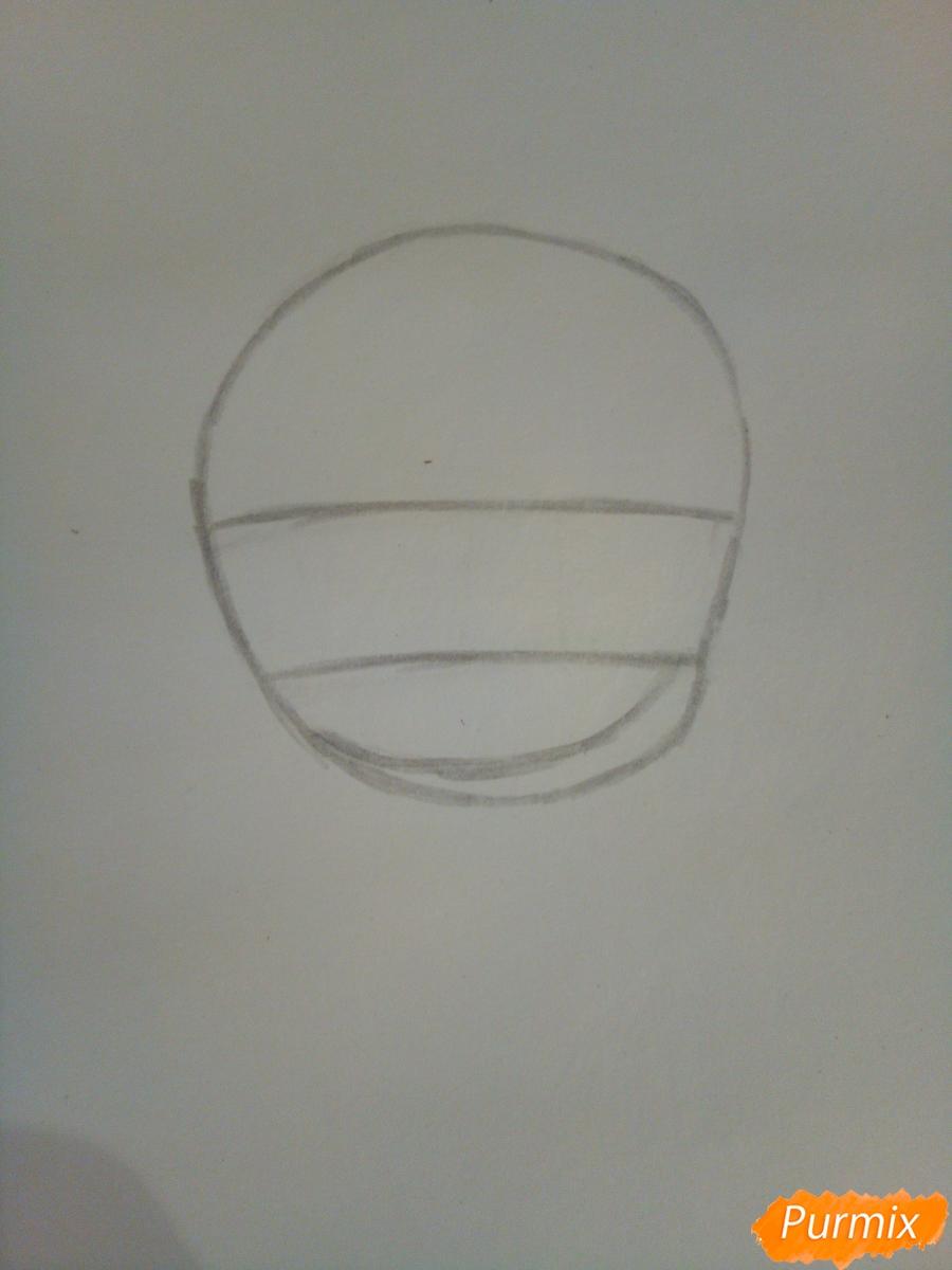 Рисуем козерога в стиле чиби - шаг 2
