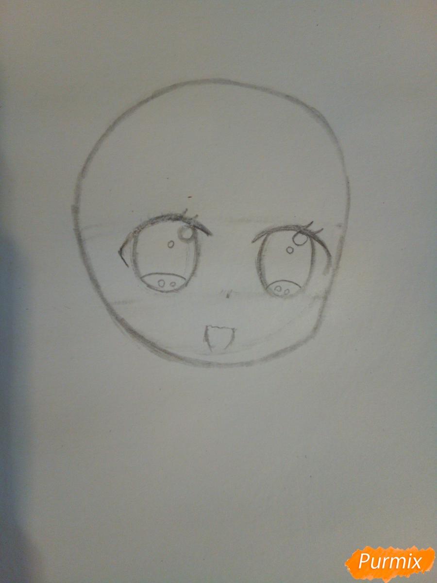 Рисуем козерога в стиле чиби - шаг 3