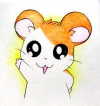 Рисунок маленького чиби хомячка