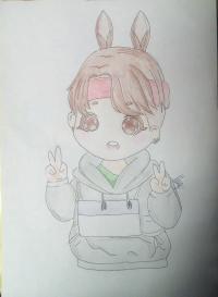 Рисунок маленького мальчика в стиле чиби