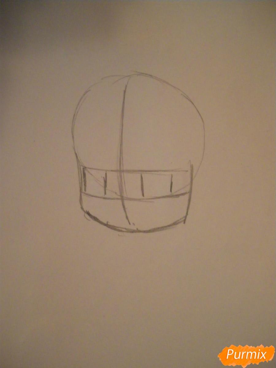 Рисуем милую чиби девочку с плюшевым зайкой - шаг 1
