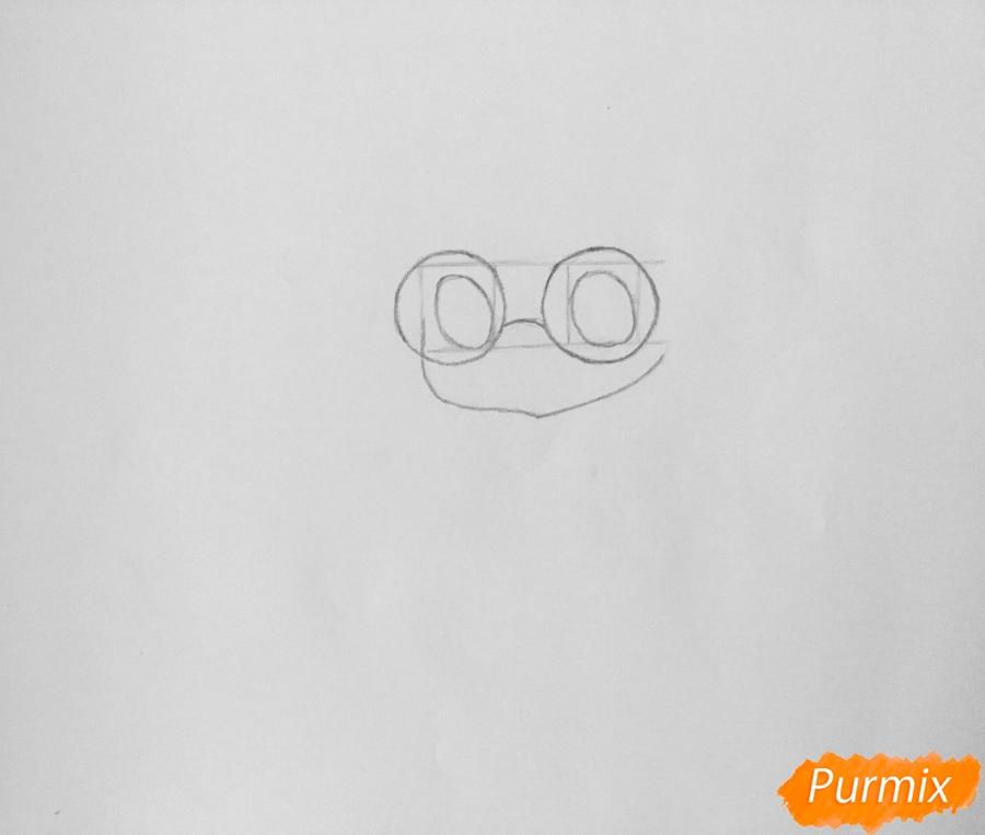 Рисуем милую чиби девочку в очках и с леденцом в руке - шаг 2